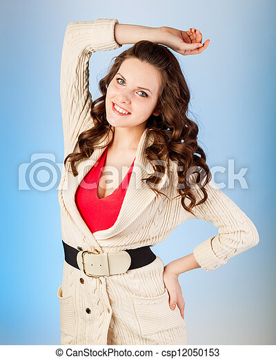 Woman is posing - csp12050153