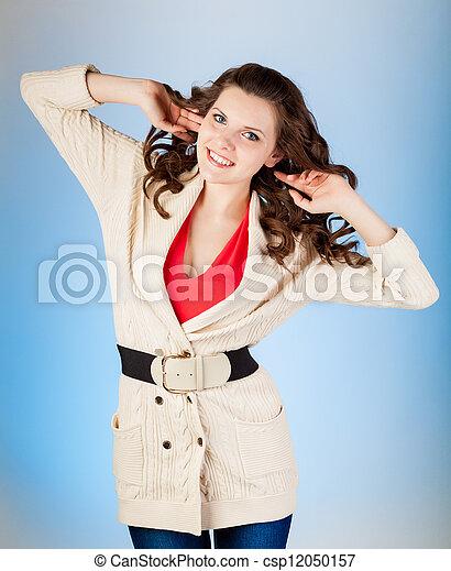 Woman is posing - csp12050157