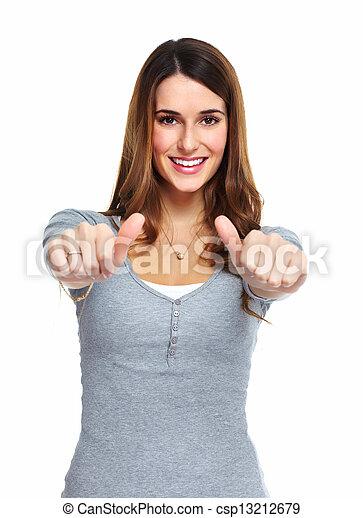 woman., jeune, heureux - csp13212679