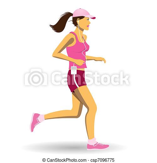 Woman Jogging - csp7096775