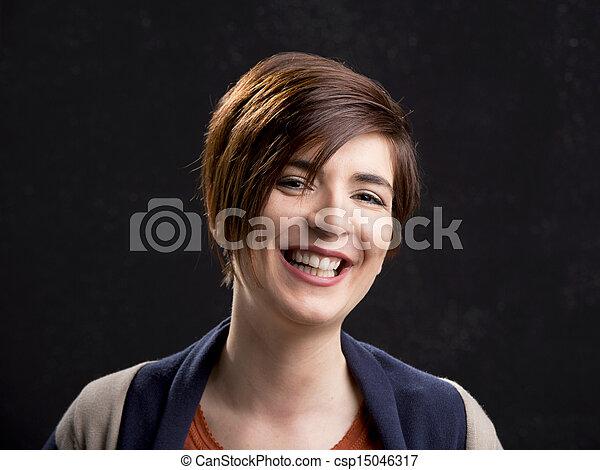 Woman laughing - csp15046317