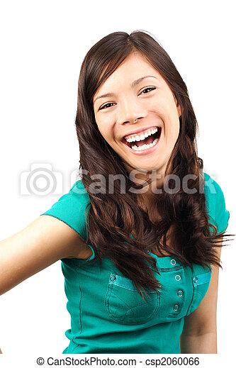 Woman laughing - csp2060066