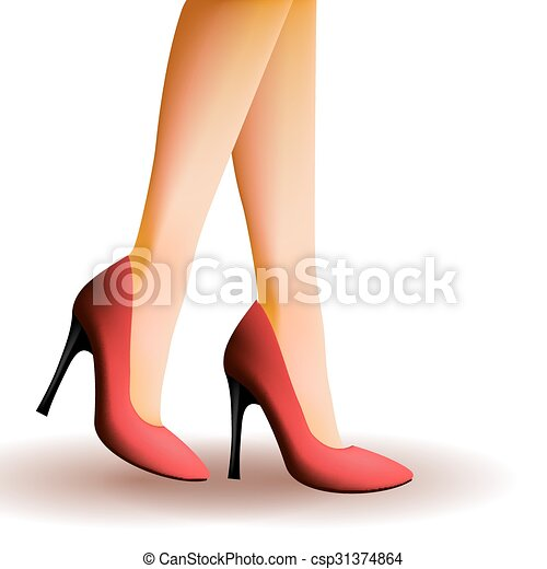 Artwork With High Heel Shoes