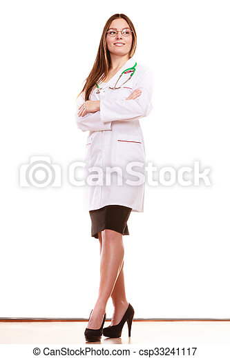 Woman medical doctor with stethoscope. Health care - csp33241117
