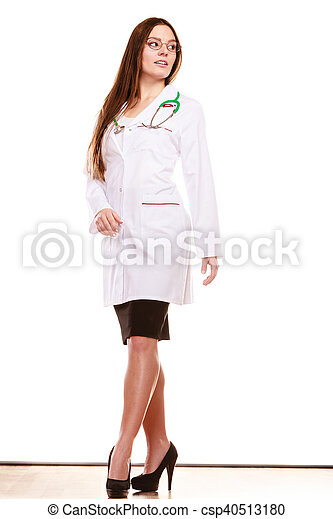Woman medical doctor with stethoscope. Health care - csp40513180