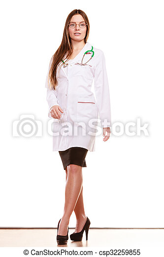 Woman medical doctor with stethoscope. Health care - csp32259855