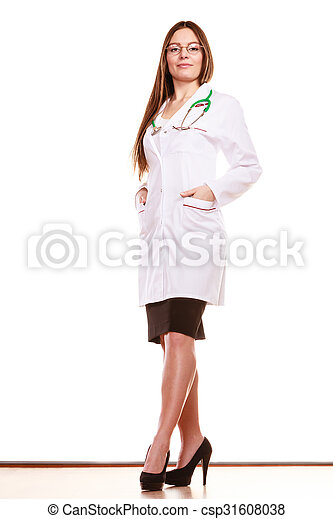 Woman medical doctor with stethoscope. Health care - csp31608038