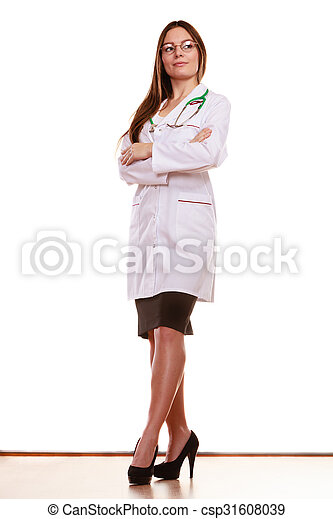 Woman medical doctor with stethoscope. Health care - csp31608039