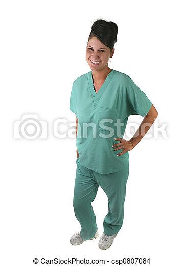 Woman Medical Staff Member - csp0807084
