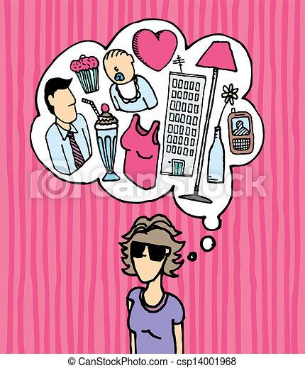 Woman mind / Busy women - csp14001968
