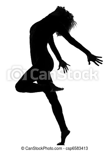 woman modern dancing - csp6583413