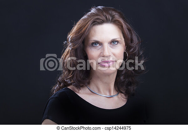 woman on black background - csp14244975