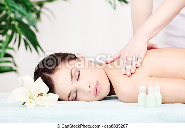 Woman on shoulder massage - csp8835207