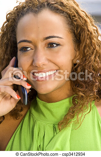 Woman on the Phone - csp3412934