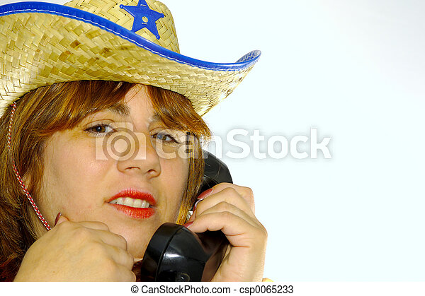 Woman on the Phone - csp0065233