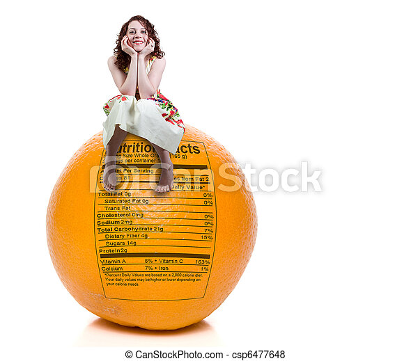 Woman Orange Nutrition Facts - csp6477648