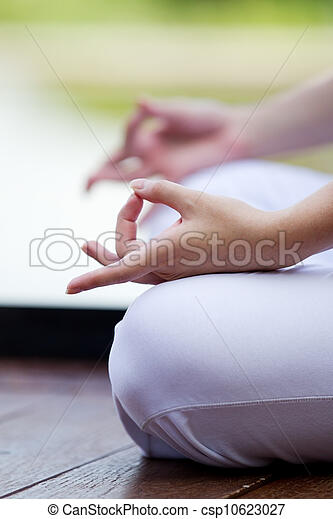 Woman performing yoga - csp10623027