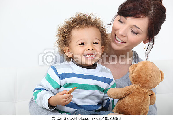 Woman playing with her child - csp10520298