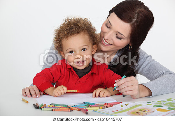 Woman playing with her child - csp10445707