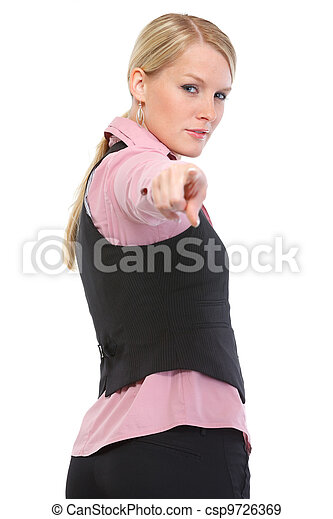 Woman pointing on you - csp9726369