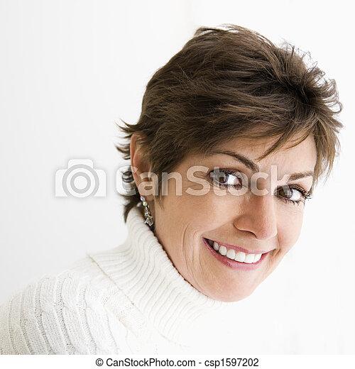 Woman portrait. - csp1597202