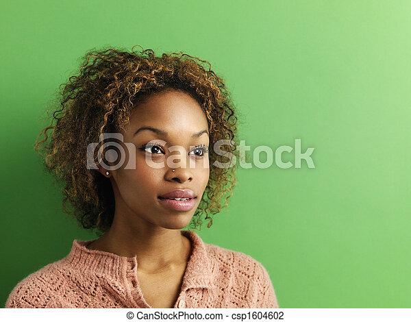 Woman portrait. - csp1604602
