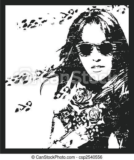 woman poster - csp2540556