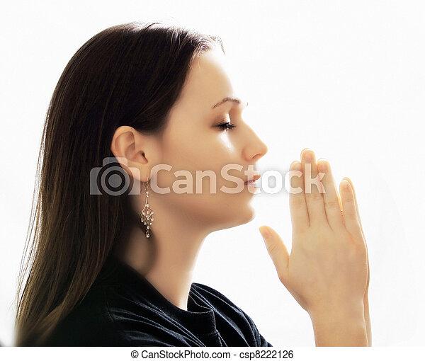 Woman Praying - csp8222126