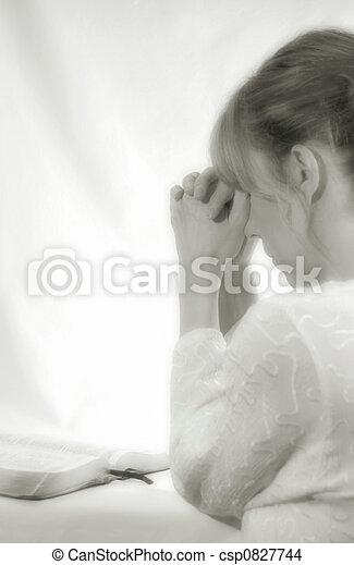 Woman Praying - csp0827744