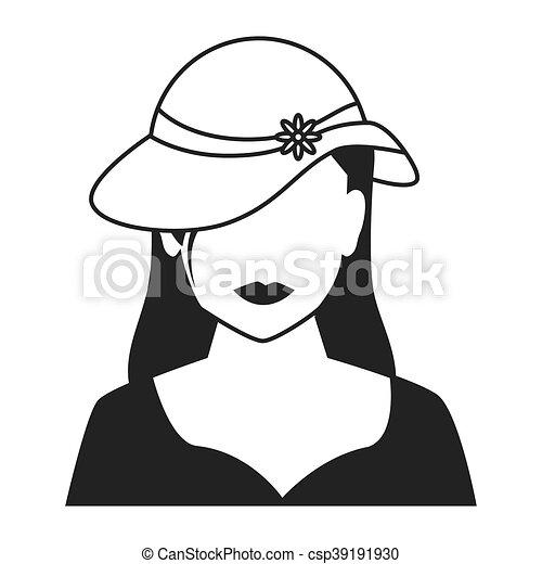 Woman Profile Silhouette Icon Vector Illustration Woman Profile