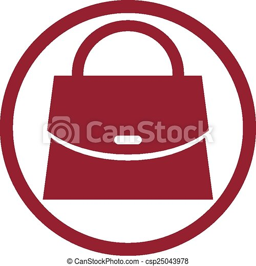 Woman purse vector icon. - csp25043978