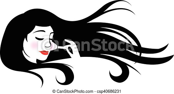 Line Drawing Face Woman : Woman putting on make up vectors search clip art illustration