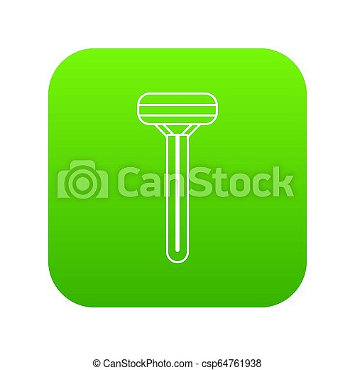 Woman razor icon green - csp64761938