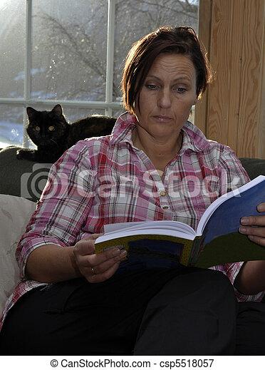 woman reading a book - csp5518057