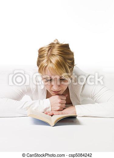 Woman reading a book - csp5084242