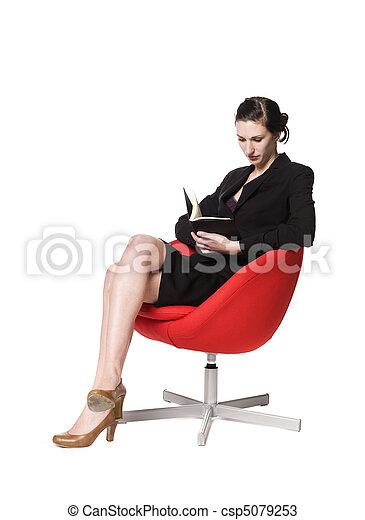 Woman reading a book - csp5079253