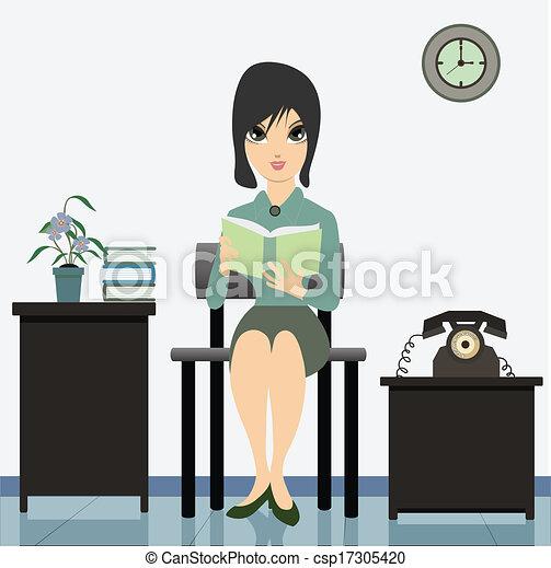 Woman Reading. - csp17305420