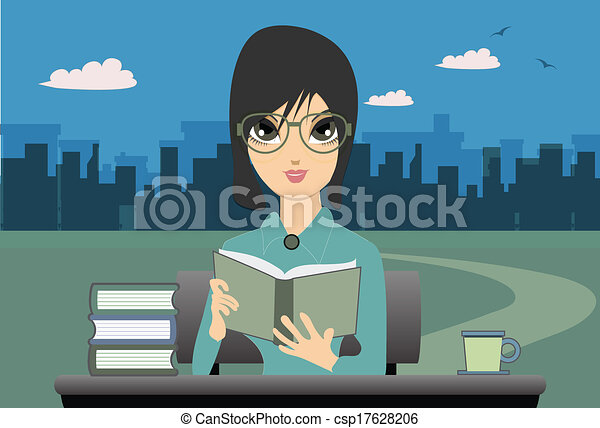 Woman Reading. - csp17628206