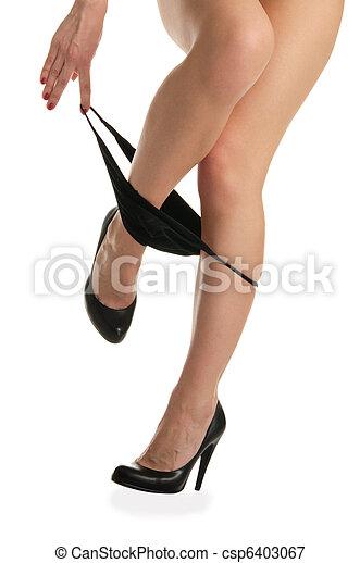Woman Removes Panties HD
