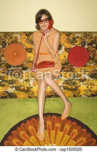 woman., retro - csp1505520