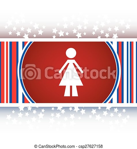 woman round glossy web icon on white background vector - csp27627158