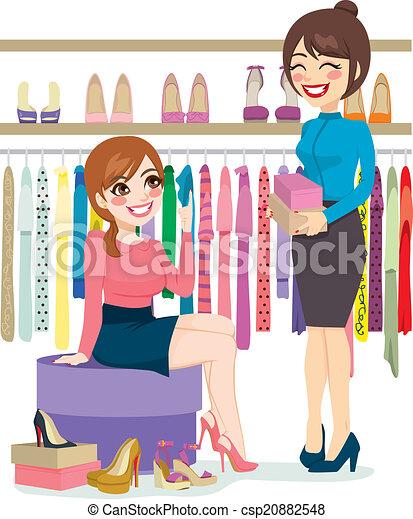 Woman Shopping Shoes - csp20882548