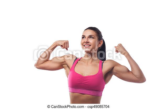 Woman Shows Biceps