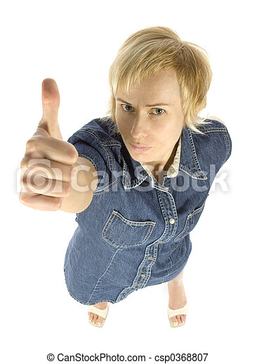 woman shows OK - csp0368807