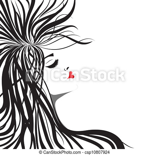 Woman silhouette - csp10807924