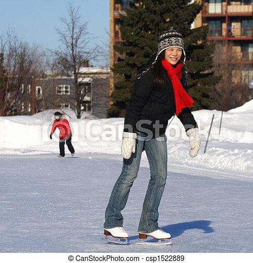 Woman skating - csp1522889