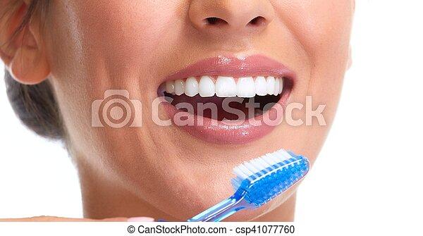 Woman smile. - csp41077760