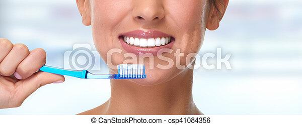 Woman smile. - csp41084356