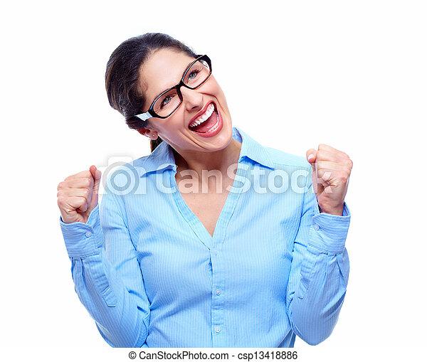 woman., success., negócio, feliz - csp13418886