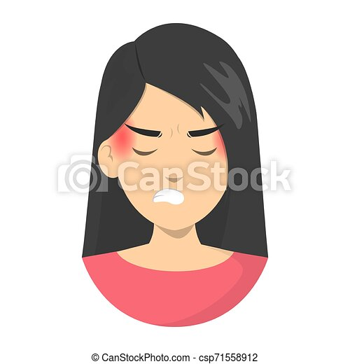 Woman Suffer From The Transformed Migraine Pain In Temples Unhappy Person With A Headache Isolated Vector Illustration In